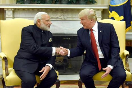 While Donald Trump has 32.8 million followers on Twitter, Narendra Modi comes a close second with over 31 million followers. Photo: PTI/PIB