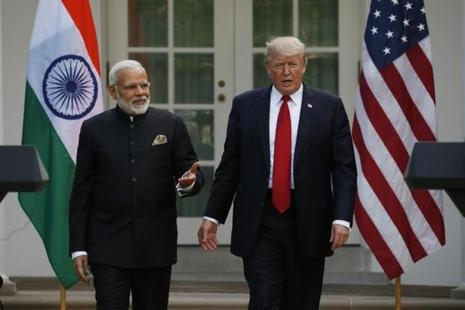 Prime Minister Narendra Modi (left) and US President Donald Trump at the White House in Washington on Monday. Photo: Reuters