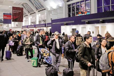 A file photo of the New York airport. US President Donald Trump has welcomed India's entry into the Global Entry Program, saying it would facilitate closer ties between the citizens of India and the US. Photo: Reuters