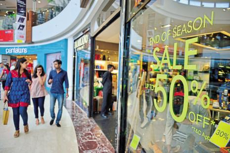 A file photo. Malls have been bringing brand retailers on board to advance their specific annual season sales. Photo: Mint