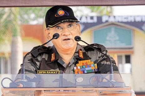 A spokesman for the Indian army says the one-day trip of Army chief Bipin Rawat was 'routine' and planned before the recent tensions. Photo: Hindustan Times