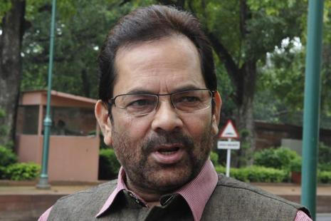 A file photo of Mukhtar Abbas Naqvi. Photo: Hindustan Times