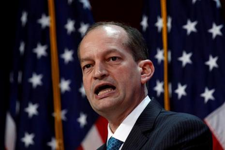 US labour secretary Alexander Acosta told a Congressional panel that the salary hike would address to a large extent the problem of replacement of American workers by foreign workers coming to the US on H1B visas. Photo: Reuters