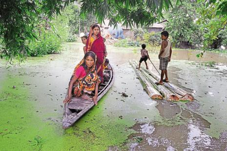 At present, Assam, Odisha, Arunachal Pradesh and Manipur are experiencing floods. Photo: PTI