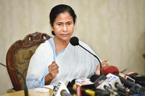Mamata Banerjee said Bengal would stand by all political parties which will fight the BJP. Photo: Indranil Bhoumik/Mint