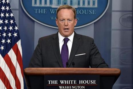 White House press secretary Sean Spicer. Photo: AFP