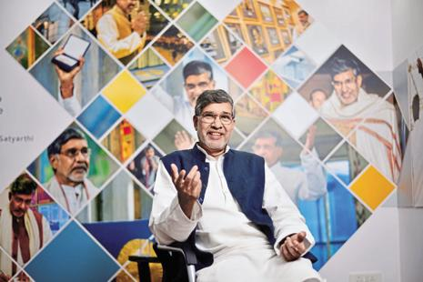 Kailash Satyarthi spoke about using technology for social cause. Photo: Pradeep Gaur/Mint