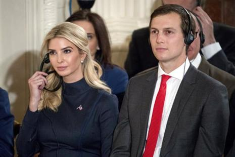 Between them, Jared Kushner and Ivanka Trump have disclosed assets worth at least $269 million. Photo:  AP