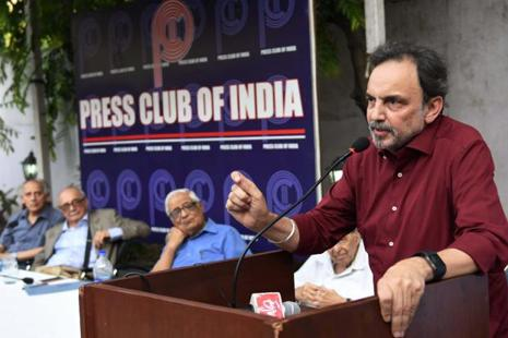 A file photo of Prannoy Roy, the co-founder and co-chairman of NDTV. Photo: PTI