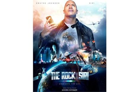The poster of 'The Rock x Siri: Dominate The Day'.
