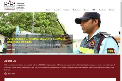 SIS India provides security solutions and business support services to customers across India and Australia.
