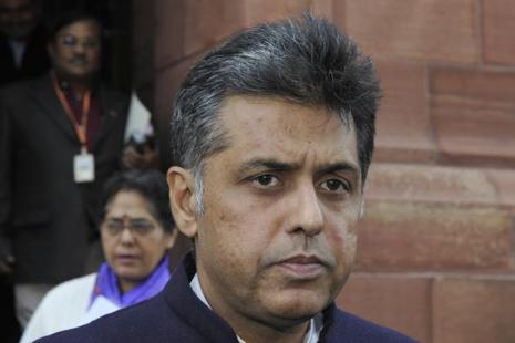 A file photo of senior Congress leader Manish Tewari. Photo: HT