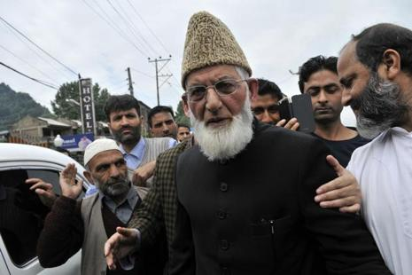 Hurriyat leader Syed Ali Shah Geelani's son-in-law was among those held by NIA. Photo: HT