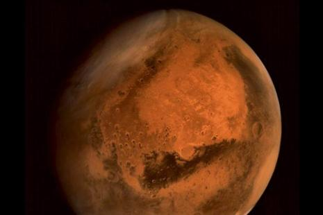 ISRO's Mars Orbiter shows the complete Red Planet in the frame. Photo: PTI