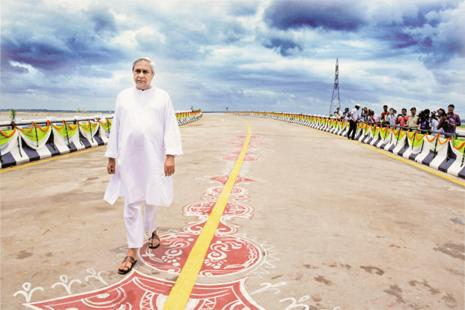 Chief minister Naveen Patnaik during the inauguration of Netaji Subash Chandra Bose bridge in Cuttack last week. Photo: PTI