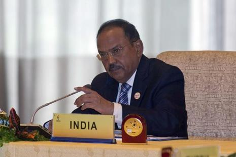 National Security Advisor Ajit Doval attends the seventh meeting of Brics senior representatives on security issues held in Beijing on Friday. Photo: AP