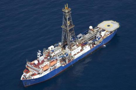 Drill ship Joides Resolution will recover sediments and rocks lying deep beneath the sea bed in a bid to discover how the region has behaved over the past tens of millions of years. Photo: AFP