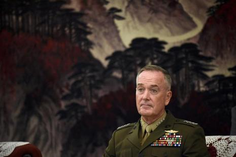 Chairman of the US joint chiefs of staff, General Joseph Dunford in Beijing on 17 August. Photo: Reuters