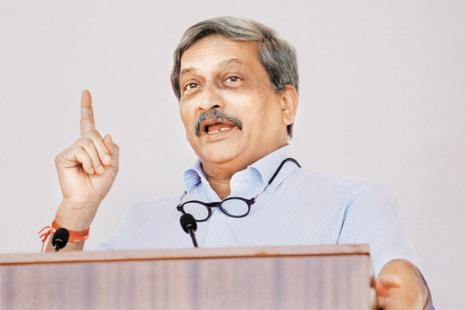 Goa chief minister Manohar Parrikar is contesting the bypoll from Panaji. Photo: PTI