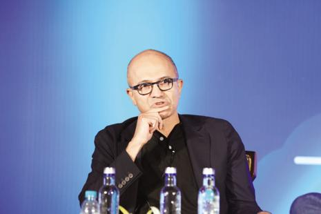 Satya Nadella said Microsoft values diversity, and asked employees to empathise with the hurt. Photo: Hemant Mishra/Mint