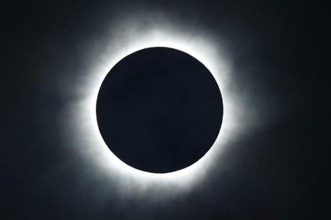Challenger said that around 87 million employees will be at work during the solar eclipse. Photo: Reuters