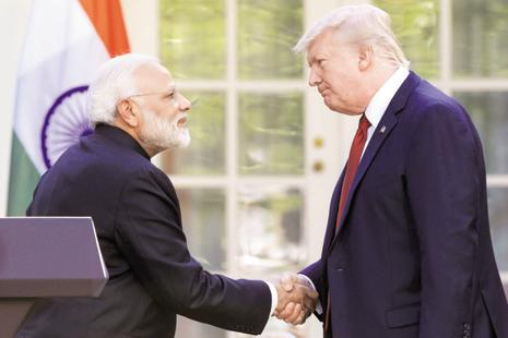 The announcement of the drone sale to India was made by Donald Trump in June when he met Narendra Modi at the White House. Photo: AP