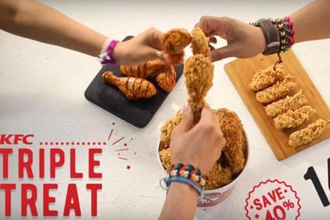 KFC India has recently executed a new ad to promote its Triple Treat combo priced at Rs 499. The ad is merely a six-second long pre-roll (an ad appearing before a video) on YouTube.