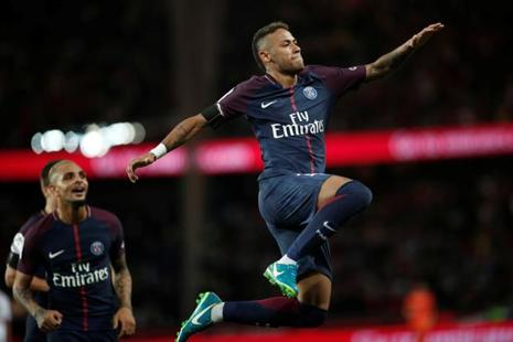 Neymar went on to score twice in his PSG home debut against Toulouse on Sunday. Photo: Reuters