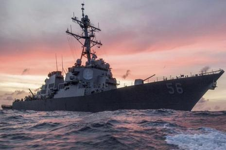 A file photo of the US Navy destroyer USS John S. McCain conducting a patrol in the South China Sea. Photo: Reuters