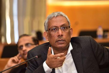 Infosys co-chairman Ravi Venkatesan today met finance minister Arun Jaitley amid the uncertainty surrounding the company following the sudden resignation of its CEO Vishal Sikka. Photo: AFP