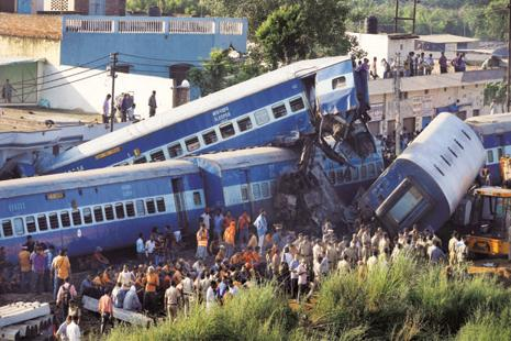 The Utkal Express derailment on Saturday left 23 people dead and over 150 injured. Photo: PTI