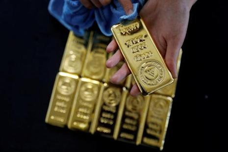 Spot gold was up 0.1% to $1,285.30 an ounce by 12.25pm, after shedding 0.5% in the previous session. Photo: Reuters