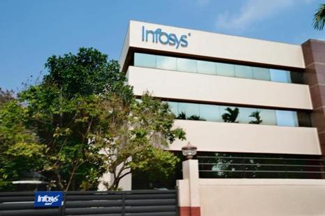 Infosys's market valuation stood at Rs2,05,463.70 crore at the close of trade on the BSE today. Photo: Mint