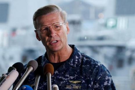 US Navy says 'the decision to relieve Joseph Aucoin was made 'due to a loss of confidence in his ability to command'. Photo: Reuters