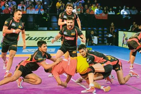 Speed is an essential factor in kabaddi. Photo: AP