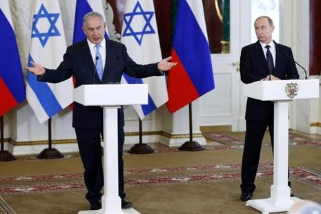 Benjamin Netanyahu (left) said that 'Iran is already well on its way to controlling Iraq, Yemen and to a large extent is already in practice in control of Lebanon.' Photo: Reuters