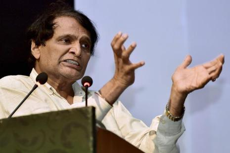 Railways minister Suresh Prabhu says he has offered to resign after the Kaifiyat Express's derailment, which came two days after the derailment of the Kalinga Utkal Express. Photo: PTI