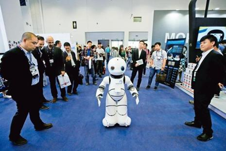 Robots are at the core of government's sweeping Made in China 2025 plan to upgrade factories to be highly automated. Photo: Reuters
