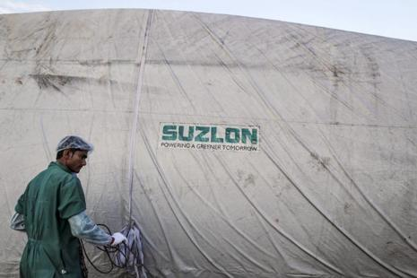 Suzlon Energy pegs the wind power market to expand to about 6,000 MW in the next fiscal year. Photo: Bloomberg