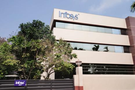 On the National Stock Exchange (NSE), the Infosys scrip jumped by 2.85% to day's high of Rs918.25. Photo: Mint