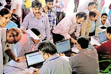 Over 21.83 lakh GST returns were filed on the GSTN portal till 6pm Wednesday. GST return filing would continue till midnight. Photo: Mint