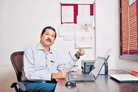 Nasscom Foundation chief Shrikant Sinha. Photo: Pradeep Gaur/Mint