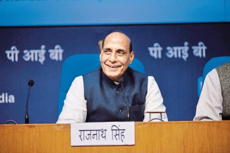Union home minister Rajnath Singh also said that India would not violate any international law by deporting Rohingyas as it was not a signatory to the UN Refugees Convention 1951. Photo: Pradeep Gaur/Mint