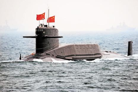 Representative image. The new nuclear submarine of the Chinese navy is stated to be 69th conventional and nuclear submarines. Photo: AFP