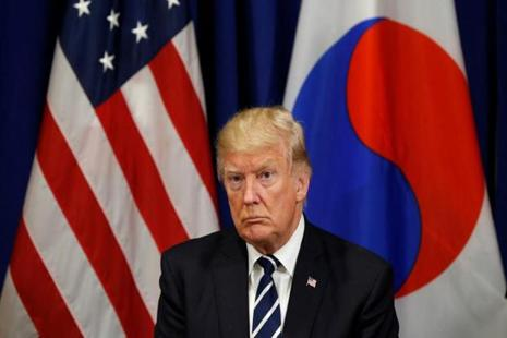 Donald Trump was set to meet with and have lunch on Thursday in New York with Japanese Prime Minister Shinzo Abe and South Korean President Moon Jae-in, who represent the nations most imperiled by North Korea's aggression. Photo: Reuters
