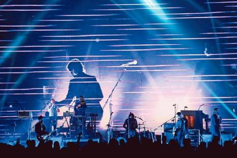 The National performing at the Shrine Auditorium, Los Angeles, in 2014. Photo: AFP