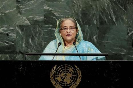 "In her address to the UN General Assembly, Sheikh Hasina said Bangladesh had recently declared 25 March as ""Genocide Day"" to pay homage to the victims of the 1971 war. Photo: AP"