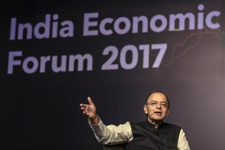 Finance minister Arun Jaitley said in Mumbai on Friday that the government is considering options to help the export industry and added that the commerce ministry is looking into the matter. Photo: Bloomberg
