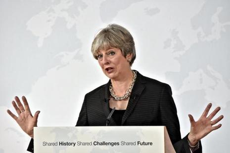 British prime minister Theresa May said the preparations necessary for Britain to adjust to a new relationship with the EU after Brexit 'point to an implementation period of around two years.' Photo: AFP