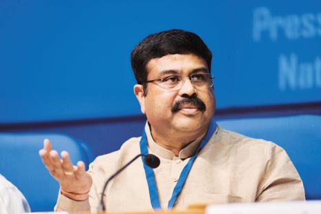 Union minister Dharmendra Pradhan also expressed hope that petroleum products will soon be brought under the ambit of goods and services tax (GST). Photo: Pradeep Gaur/Mint